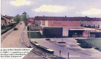 A view of Kingswood Baptist Church C.1961
