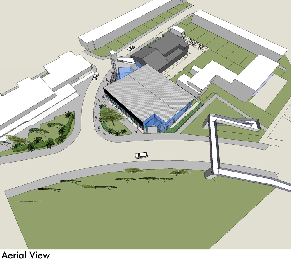 New building – arial view