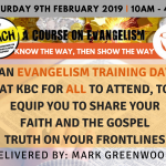 Evangelism Training Day – 9th February